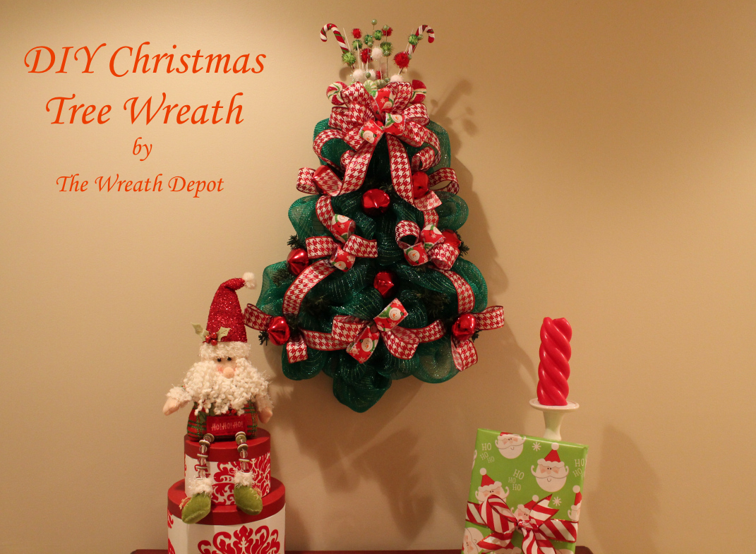 diy christmas mesh wreath tutorial