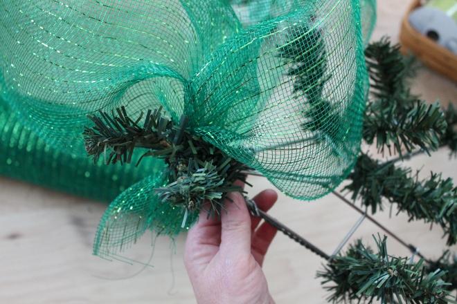 Diy Christmas Mesh Deco Wreath Quot O Christmas Tree Quot The
