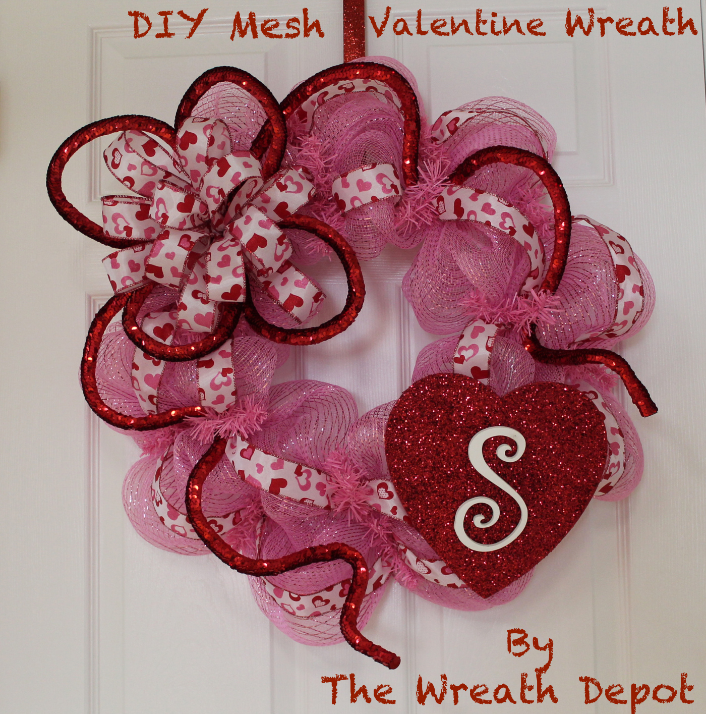 How to make deco mesh tube wreath