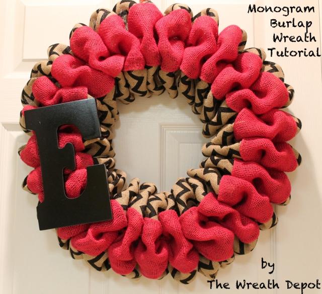 """Diy Monogram Fall Wreath: DIY Monogram Burlap Wreath Tutorial """"Simply Easy"""""""