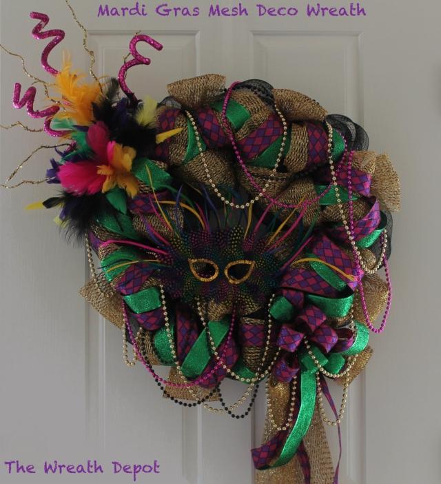 Diy Deco Mesh Ribbon Wreath Mardi Gras The Wreath Depot