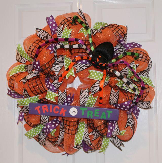 Trick Or Treat Mesh Diy Halloween Wreath The Wreath Depot